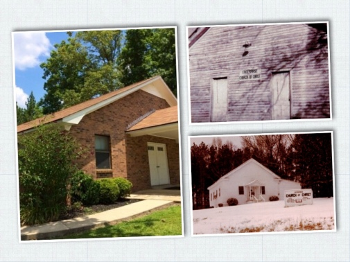 Enterprise Church of Christ buildings 1953 to 2013